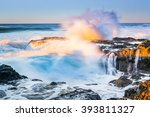 A Wave Crashed Volcanic Rocks...