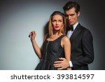 elegant businessman in black... | Shutterstock . vector #393814597