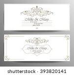set of wedding invitation card. ...   Shutterstock .eps vector #393820141