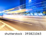 traffic on road and buildings... | Shutterstock . vector #393821065