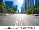 city road through modern... | Shutterstock . vector #393821071