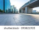 marble floor front of modern... | Shutterstock . vector #393821935