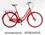 red city bike | Shutterstock . vector #393824035