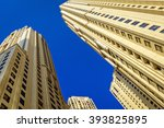 high rise residential blocks in ... | Shutterstock . vector #393825895