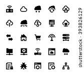 cloud data technology vector... | Shutterstock .eps vector #393826129