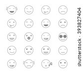 emoticons collection. set of... | Shutterstock . vector #393827404