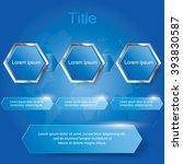 hexagon three step diagram ... | Shutterstock .eps vector #393830587