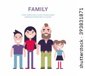 family concept flat style... | Shutterstock .eps vector #393831871