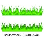 vector file of green grass | Shutterstock .eps vector #393837601