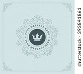 royal logo design template... | Shutterstock .eps vector #393841861
