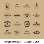 vintage logos design templates... | Shutterstock .eps vector #393842155