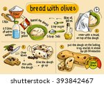 recipe for homemade bread with... | Shutterstock .eps vector #393842467