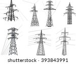 illustration with electric... | Shutterstock .eps vector #393843991