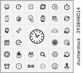 simple time icons set....