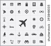 simple travel icons set.... | Shutterstock .eps vector #393848035