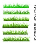 vector grass set | Shutterstock .eps vector #393849151