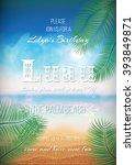 hawaiian party  luau feast... | Shutterstock .eps vector #393849871