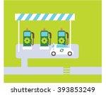 green gas station. green gas... | Shutterstock .eps vector #393853249