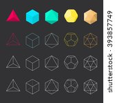 platonic solids  vector...