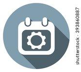 calendar icon   Shutterstock .eps vector #393860887