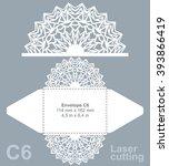 vector die cut envelope... | Shutterstock .eps vector #393866419