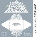 vector die cut envelope... | Shutterstock .eps vector #393866485
