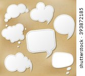 retro speech bubble set with... | Shutterstock .eps vector #393872185