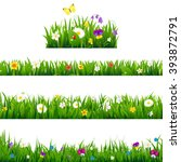 big set flowers borders with... | Shutterstock .eps vector #393872791