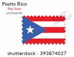 puerto rico stamp design over... | Shutterstock . vector #393874027