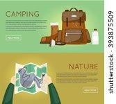 outdoor activities. summer... | Shutterstock .eps vector #393875509