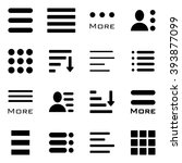 hamburger menu icons set. bar... | Shutterstock . vector #393877099