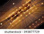 luxury chandelier light pattern ...   Shutterstock . vector #393877729