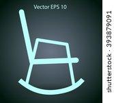 rocking chair vector...   Shutterstock .eps vector #393879091