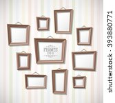 set of cartoon picture frames... | Shutterstock .eps vector #393880771