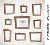 set of cartoon picture frames... | Shutterstock .eps vector #393880795