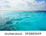 Caribbean Summer Sea With Blue...