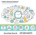 time management concept... | Shutterstock .eps vector #393894895