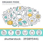 organic food concept... | Shutterstock .eps vector #393895441