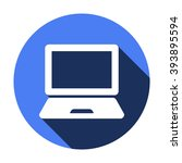 laptop  icon   isolated. flat ... | Shutterstock .eps vector #393895594