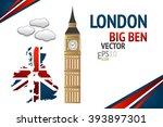 london big ben vector... | Shutterstock .eps vector #393897301