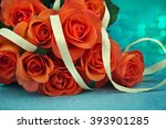 bouquet of roses. | Shutterstock . vector #393901285