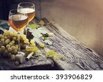 white wine and grapes  wine and ... | Shutterstock . vector #393906829