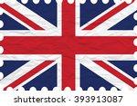 wrinkled paper united kingdom... | Shutterstock . vector #393913087