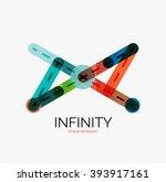 vector infinity logo  flat... | Shutterstock .eps vector #393917161