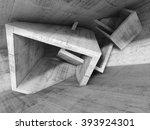 Concrete Room Interior With...
