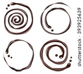 chocolate swirl  isolated on... | Shutterstock .eps vector #393925639