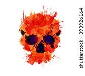 Skull Made Of Colorful Splashes