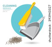 vector set of cleaning service... | Shutterstock .eps vector #393943327