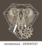 the stylized image of an... | Shutterstock . vector #393944767