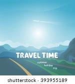 travel time background | Shutterstock .eps vector #393955189